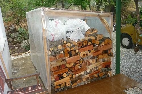 Regen Holzhütte